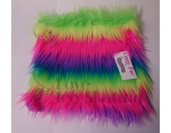Fuzzy Soakers Towel Rainbow Crazy Fur