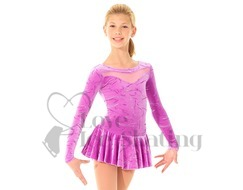 Mondor Ice Skating Dress Violet with Glitter Design