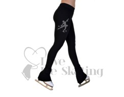 Chloe Noel P22 All Black Ice Skating Pants w Rhinestone Skater MSK