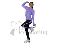 Jiv Girls Ice Skating Practice Training Leggings Lavender/Black