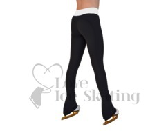 Chloe Noel PS35 Black Ice Skating Leggings with White Band