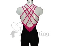 Sagester 625 Fuchsia Ice Skate Catsuit with Swarovski Crystals