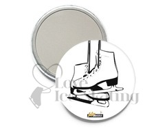 Intermezzo 7669 Ice Skating Pocket Mirror