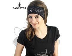 Sagester  526 Black Figure Skating Swarovski Crystal Headband