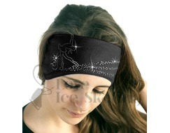 Sagester Black Ice Skating Layback in Swarovski Crystal Headband