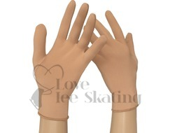 Ice Skating Lycra Competition Gloves Nude / Skin Tone by Intermezzo