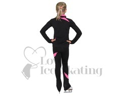 JIV Figure Ice Skating Training Jacket Black with Pink