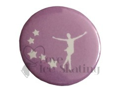 Skater and Stars on Lilac badge