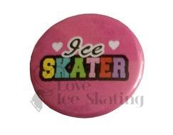Ice Skater Rainbow on Pink