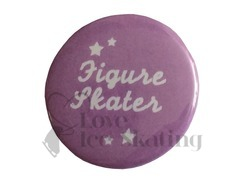 Figure Skater with Stars on lilac Badge