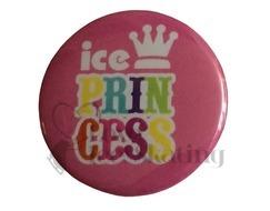 Ice Princess Rainbow on Pink Badge