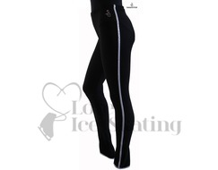 Sagester 424 Ice Skating Leggings Black with Silver Metallic Trim