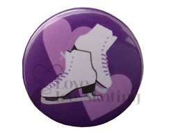 Skates and Hearts Purple and Lilac badge