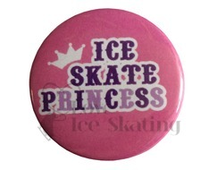Ice Skate Princess on Pink Badge