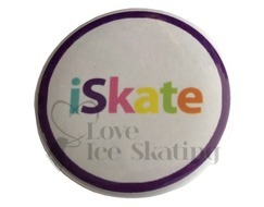 iSkate Rainbow Colour Badge