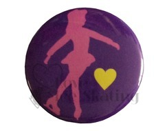 Pink Skater on Purple Badge