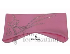 Sagester Pink Ice Skating Layback Headband in Swarovski Crystals