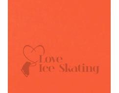Thuono Ice Skating Thermal Neon Orange Ice Skating Skirt