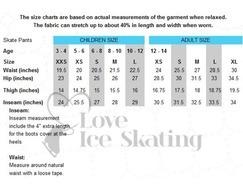Chloe Noel P22 Ice Skating Leggings with Crystal Skate with Fuchsia Crystal Ribbon