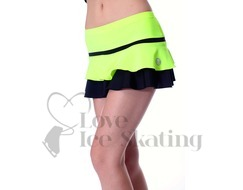 Thuono Hello Thermal Neon Yellow Figure Skating Skirt