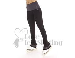 Thuono Glitter Serpent Black Performance Ice Skating Leggings