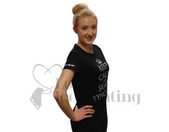 Dri- Ice Keep Calm and Skate Synchro Glitter Black T-Shirt
