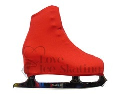 Red Figure Skating Boot Covers Youth