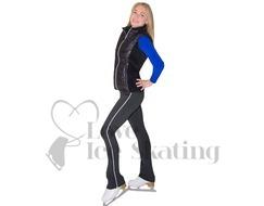 Jiv Black Figure Skating Training Gillet / Body Warmer