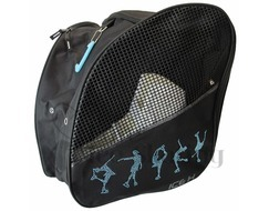 Ice H Skating Backpack with Light Blue Figure Skaters Rhinestones