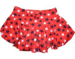 Chloe Noel  York Flare Ice Skating Skirt K02 Red with Stars