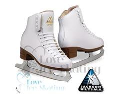 Jackson  Artiste White Figure Skates