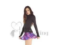 Thuono Glitter Explosion Violet A-Line Figure Skating Skirt