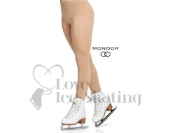 Mondor 911 Rhinestone footed Ice Skating Tights Caramel