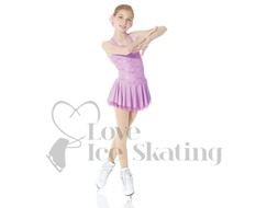 Mondor Fantasy on Ice 12916 Lilac Lace Figure Skating Dress