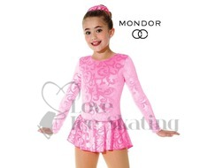 Metallic Pink Damask Ice Skating Dress by Mondor