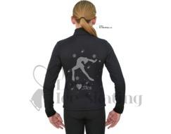 Ice Skating Black Jacket with Crystal Skater SK8