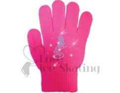Chloe Noel Ice Skating Coloured Gloves with Crystal Skate