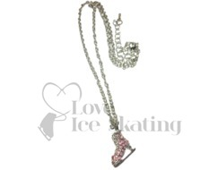 Chloe Noel Rhinestone Crystal Ice skate Necklace