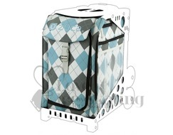 Zuca Bag Argyle Blue Insert