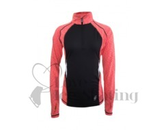 ES Melange Ultra lightweight long sleeve top Coral