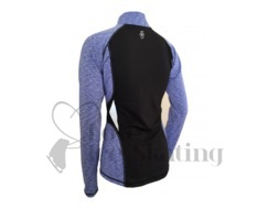 ES Melange Ultra lightweight long sleeve top Blue