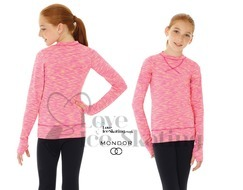 Mondor 4501 Pink Yellow Strata Ice Skating Training Top