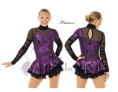 Mondor Purple & Black Fantasy on Ice Skating Dress