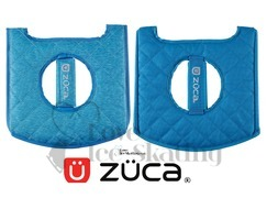 Zuca Heather Seat Cushion Aqua Reverse