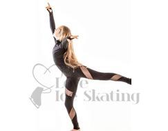 JIV Ice Skating Leggings Black with Mesh