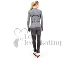 JIV Ice Skating Leggings Grey Melange