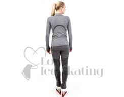 JIV Ice Skating Leggings Grey Melange
