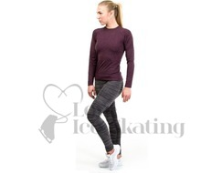 JIV SH1 Figure Skating Training Top Pink Melange