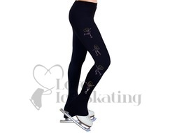 Ice Skating Leggings Rhinestone Rose Pink Skaters