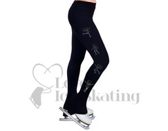 Ice Skating Leggings w Turquoise Rhinestone Skaters